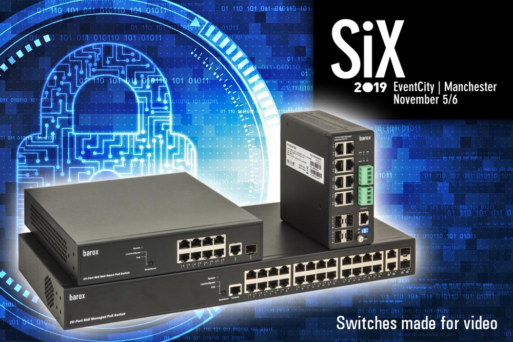 See the barox Cyber secure IP video switch range at SiX 2019